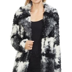 Vince Camuto NWT Marled Faux Fur Shaggy Coat